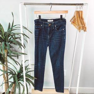 Madewell High Riser Dark Wash Skinny Jean